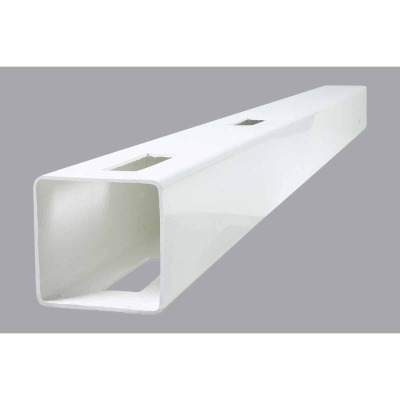 Outdoor Essentials 5 In. x 5 In. x 60 In. White Line 2-Rail Fence Vinyl Post