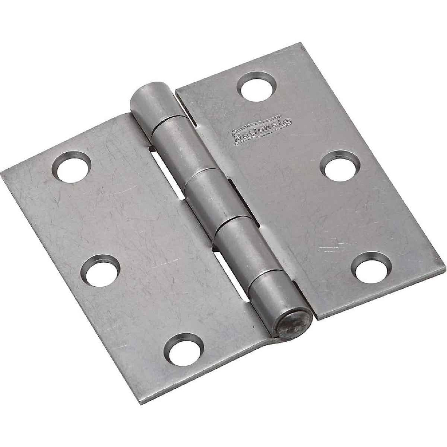 National 3 In. Square Steel Broad Door Hinge Image 1