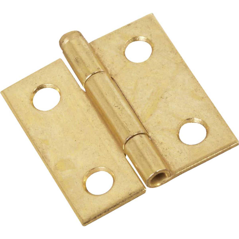 National 1-1/2 In. Brass Loose-Pin Narrow Hinge (2-Pack) Image 1