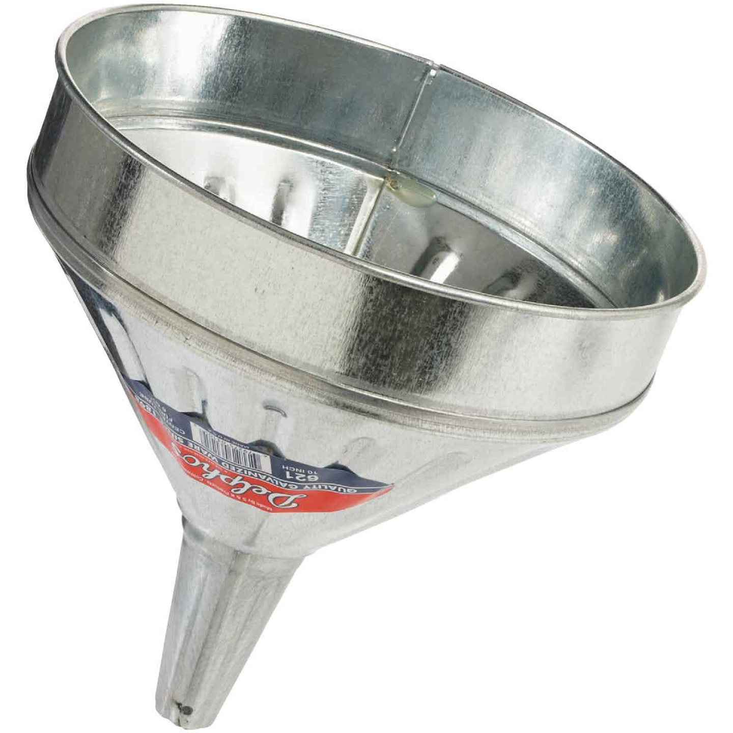 Delphos Heavy-Duty 6 Qt. Galvanized Steel Funnel with Center Spout Image 1