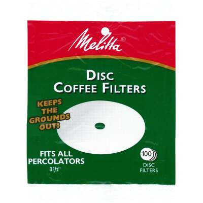 Melitta White Disc Coffee Filter (100-Pack)
