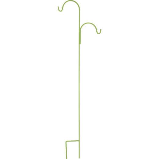 American GardenWorks UrbanGarden 90 In. Leafy Romaine Offset Double Hanger Shepherd Hook