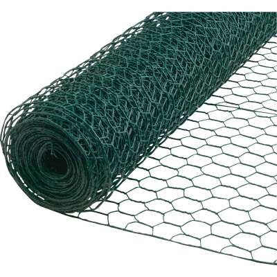 1 In. x 48 In. H. x 25 Ft. L. Green Vinyl-Coated Poultry Netting