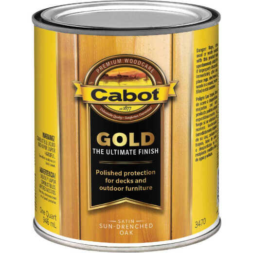 Cabot Gold Exterior Stain, Sun-Drenched Oak, 1 Qt.