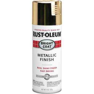 Rust-Oleum Bright Coat Gold Metallic Gloss 11 Oz. Anti-Rust Spray Paint