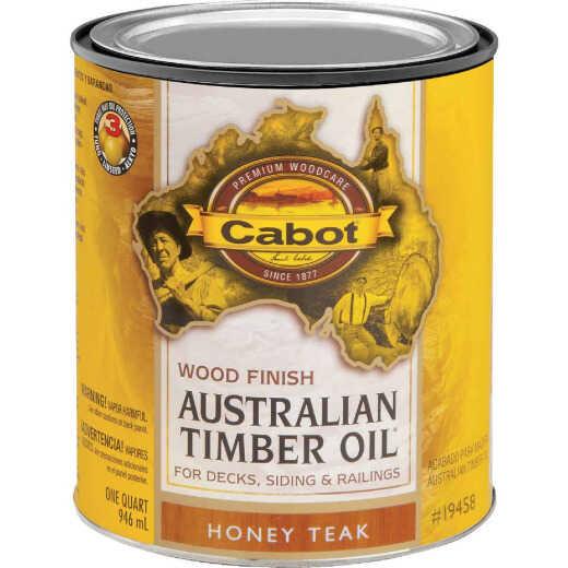 Cabot Australian Timber Oil Water Reducible Translucent Exterior Oil Finish, Honey Teak, 1 Qt.